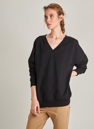 Ng Style V Yaka Sweatshirt Siyah